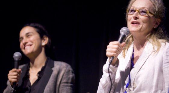 Sarah Gavron and Meryl Streep