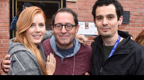 Tributee Amy Adams with Michael Barker and Damien Chazelle