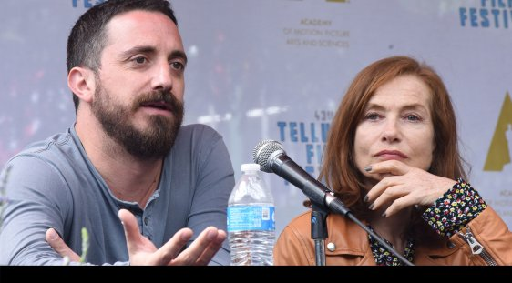 Tributee Pablo Larraín and Isabelle Huppert