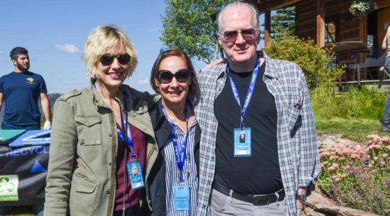 Greta Gerwig, Laurie Metcalf and Tracy Letts
