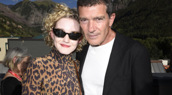 Julia Garner and Antonio Banderas
