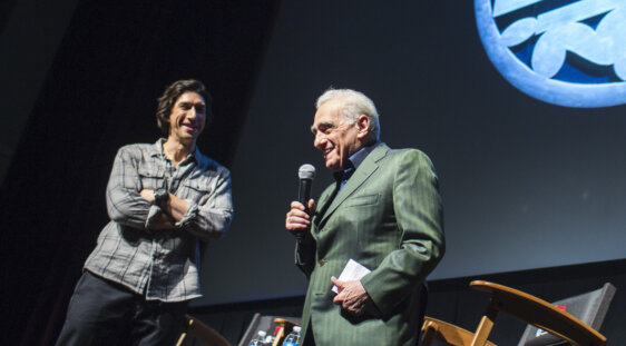 TFF 46 Tribute Adam Driver with Martin Scorsese