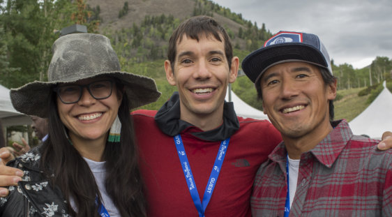 Elizabeth Chai Vasarhelyi, Alex Honnold and Jimmy Chin